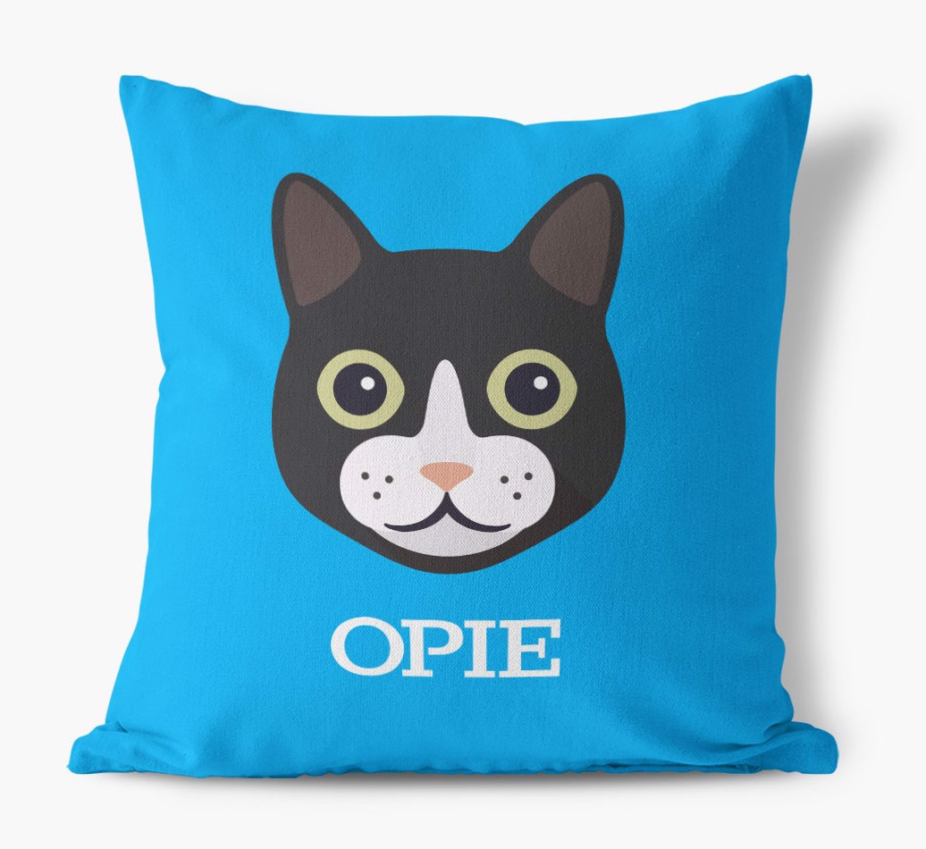 Personalized Icon Pillow Featuring your Cat icon and Name