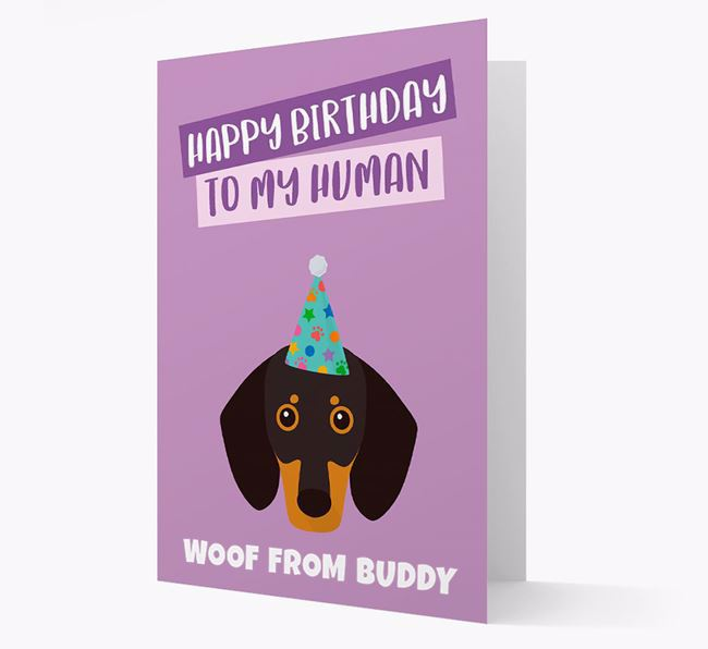 Personalised Dog Greeting Card