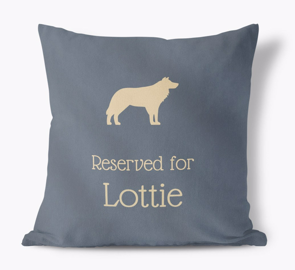 Personalized Dog Pillow with your Dogs name and Silhouette